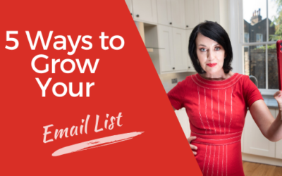 [Video] 5 Ways to Grow Your Email List Organically to Grow Your Business