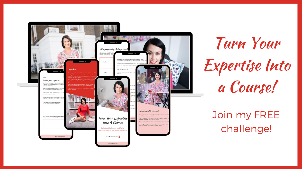 Turn your Expertise into a Course FREE challenge
