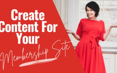[Video] How To Create Content For Your Membership Site When You're a Small Business Owner